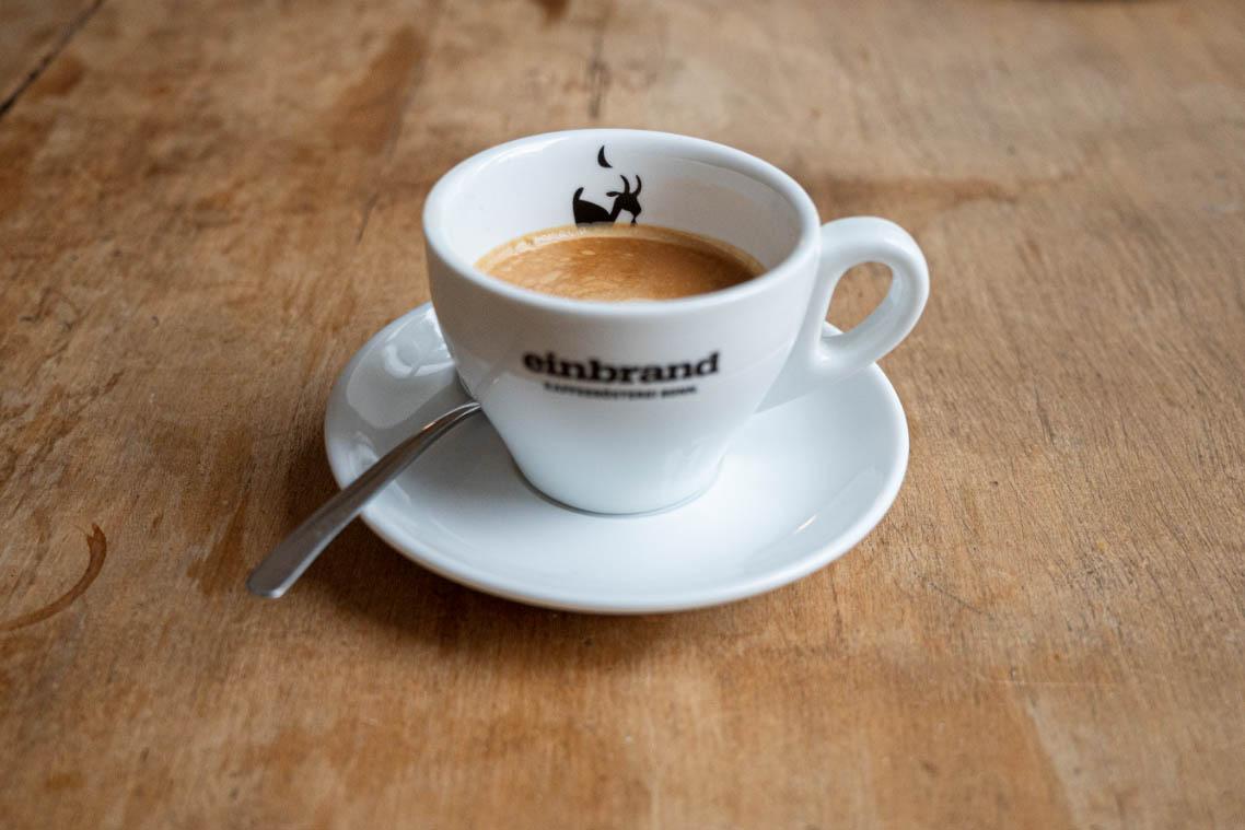 Markenentwicklung Kaffeerösterei: Espressotasse