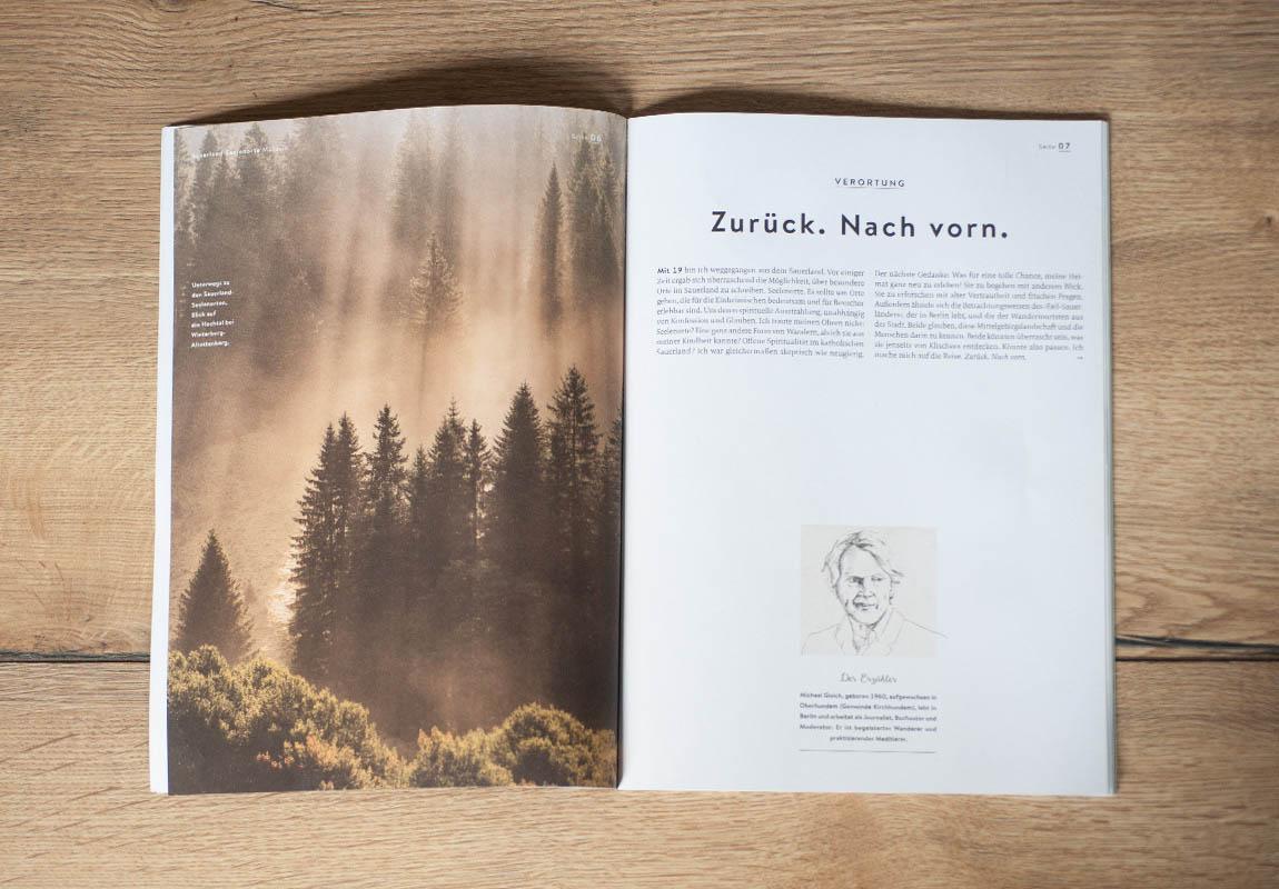 Doppelseite Sauerland Seelenorte Magazin