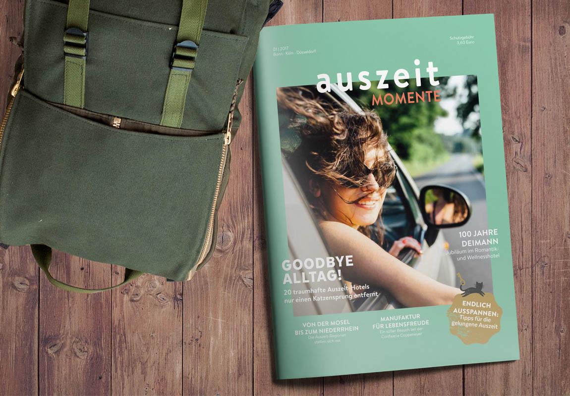 Auszeit Momente Magazin: Cover: