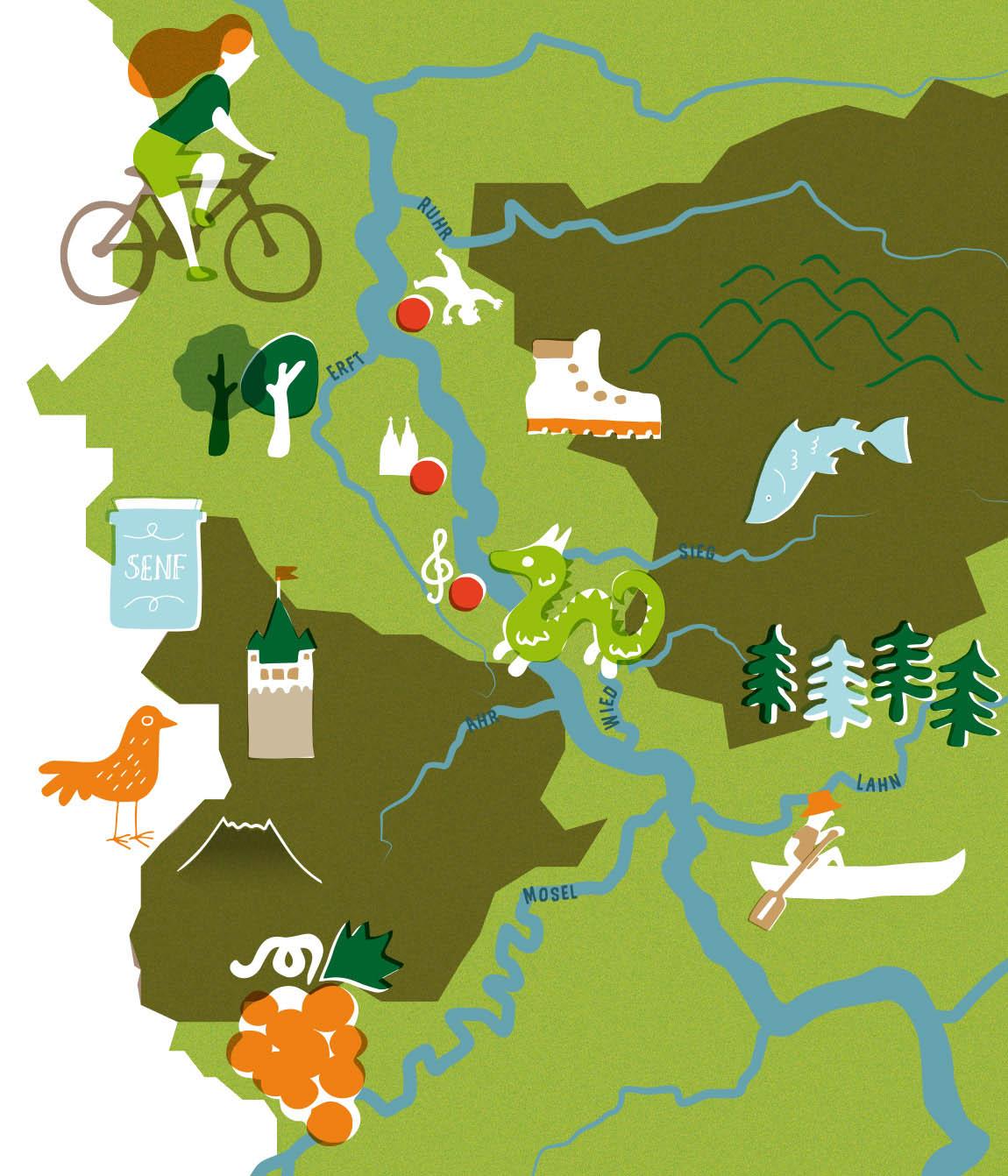 Auszeit Momente Magazin: Illustrierte Karte