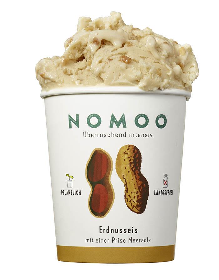 NoMoo: Erdnusseis in Verpackung