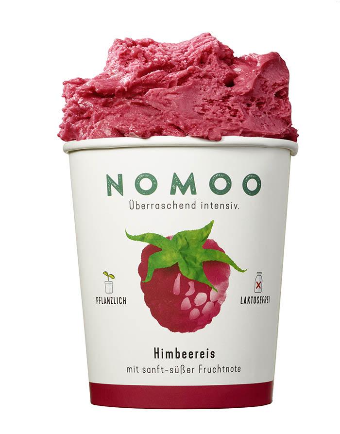NoMoo: Himbeereis in Verpackung