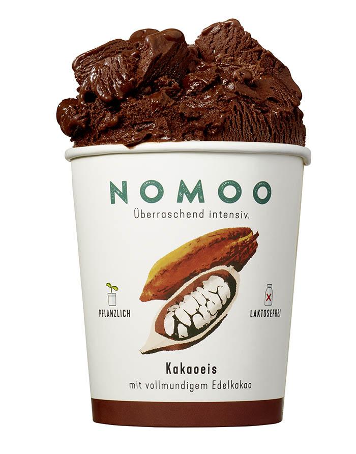 NoMoo: Kakaoeis in Verpackung