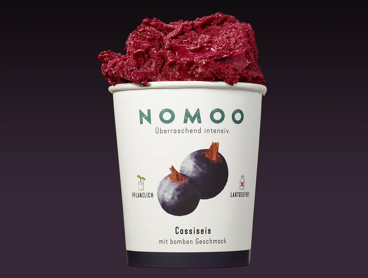 NoMoo: Cassiseis in Verpackung