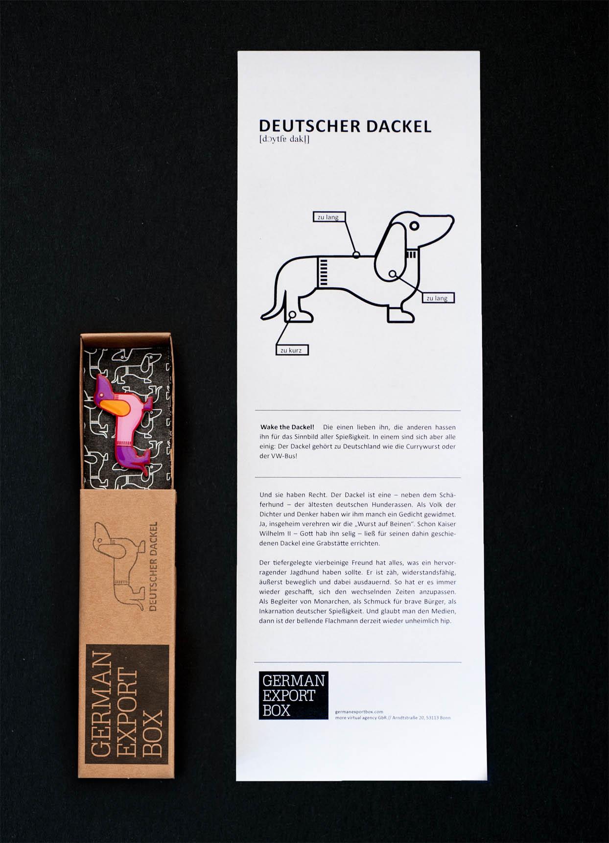 German Export Box: Produktinlays