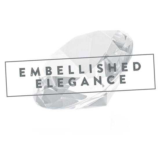"Magazin Sirona Densply, Rubriklogo ""Embellished Elegance"""