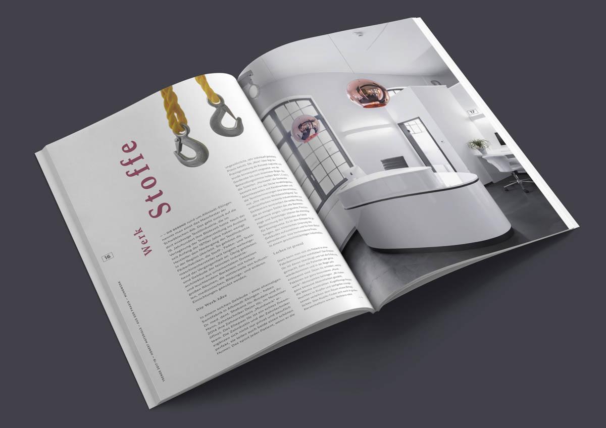 Magazin Sirona Densply, Doppelseite