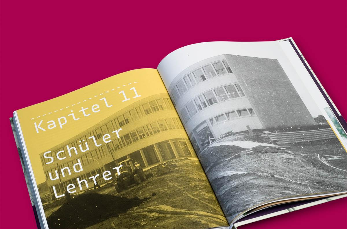 Editorialdesign: Festschrift Helmholtz Gymnasium Bonn, Kapitel gebundener Ganztag