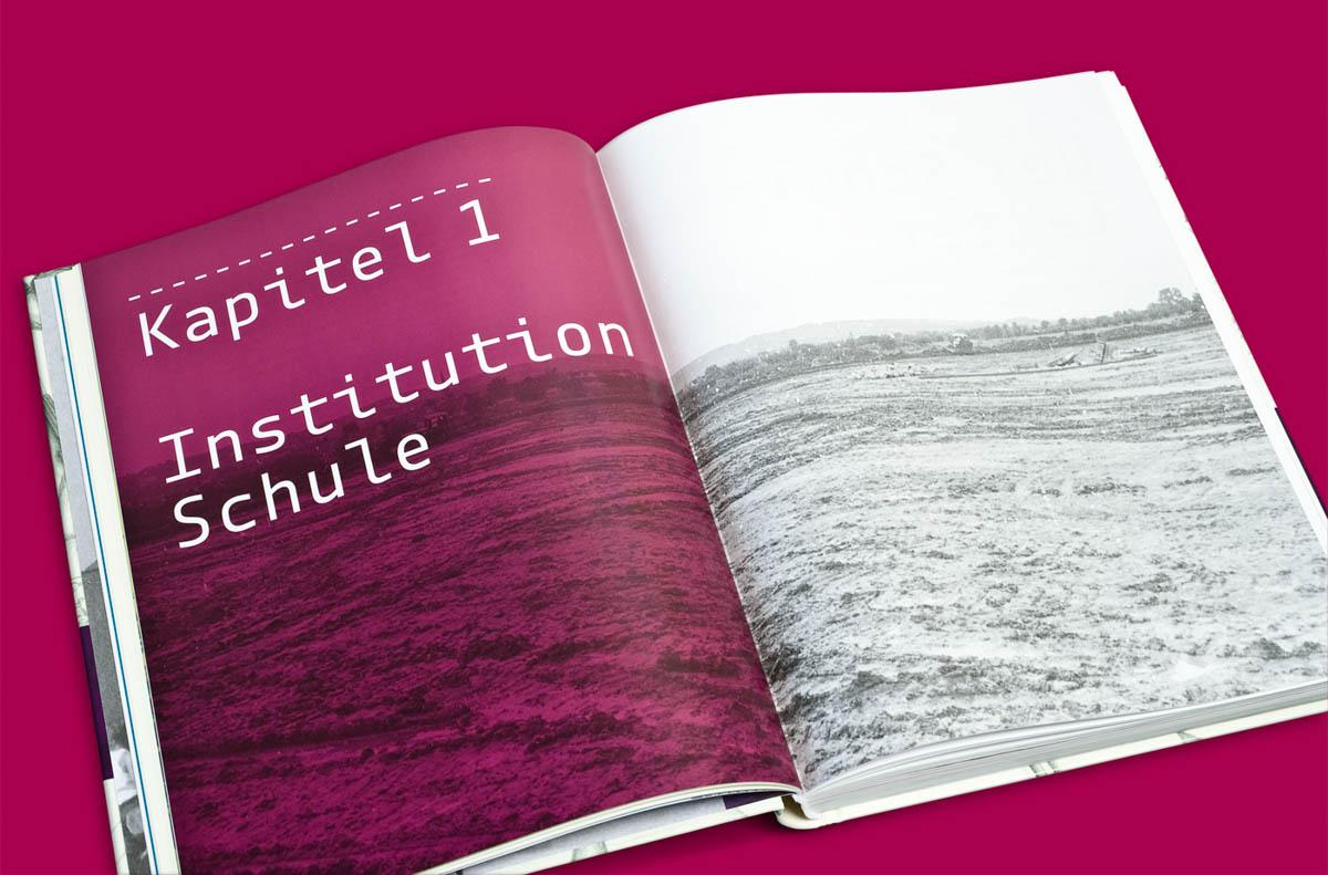 Editorialdesign: Festschrift Helmholtz Gymnasium Bonn, Kapitel Institution Schule