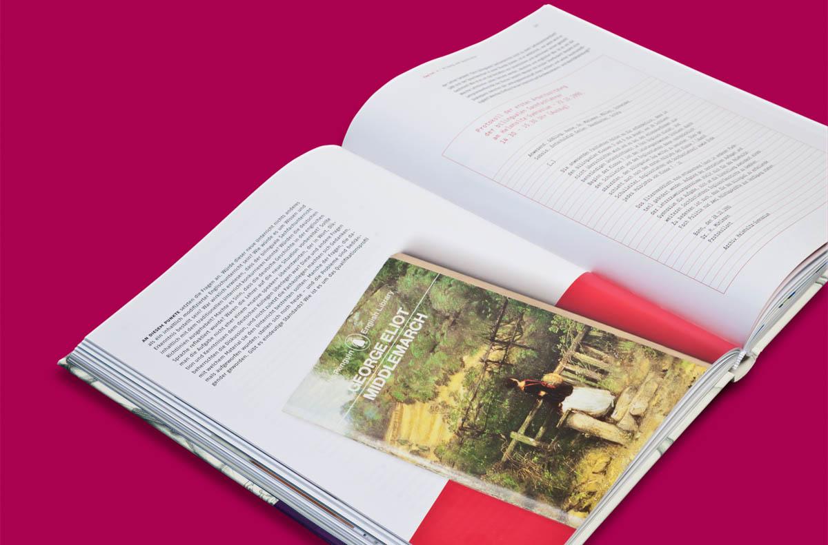 Editorialdesign: Festschrift Helmholtz Gymnasium Bonn, Doppelseite
