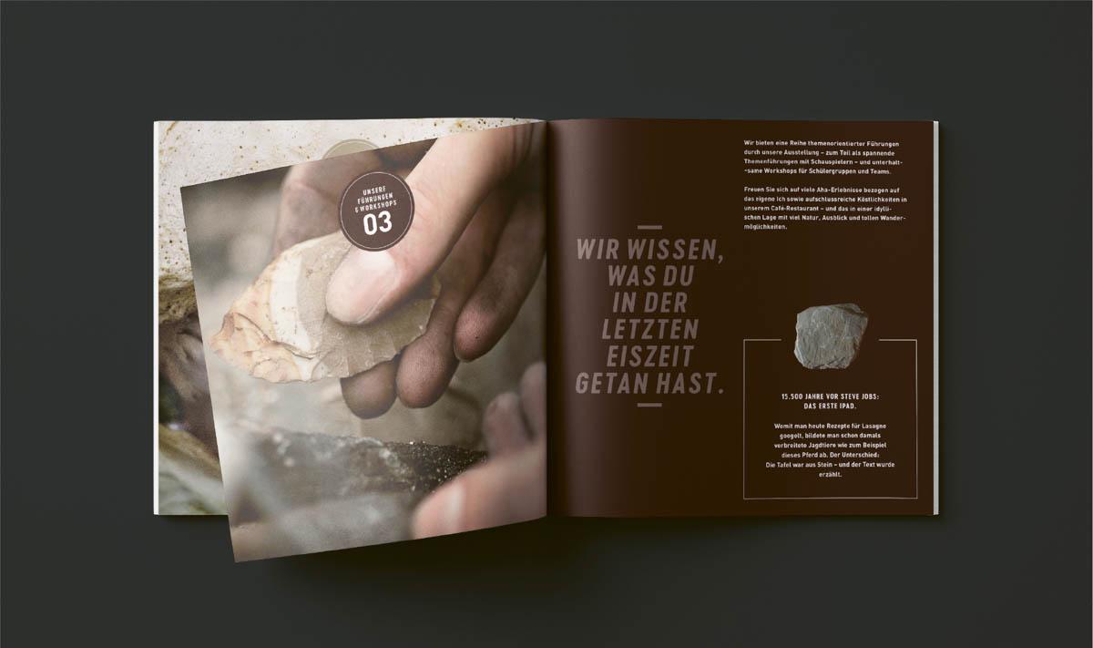 Broschüre für das Museum Monrepos Neuwied