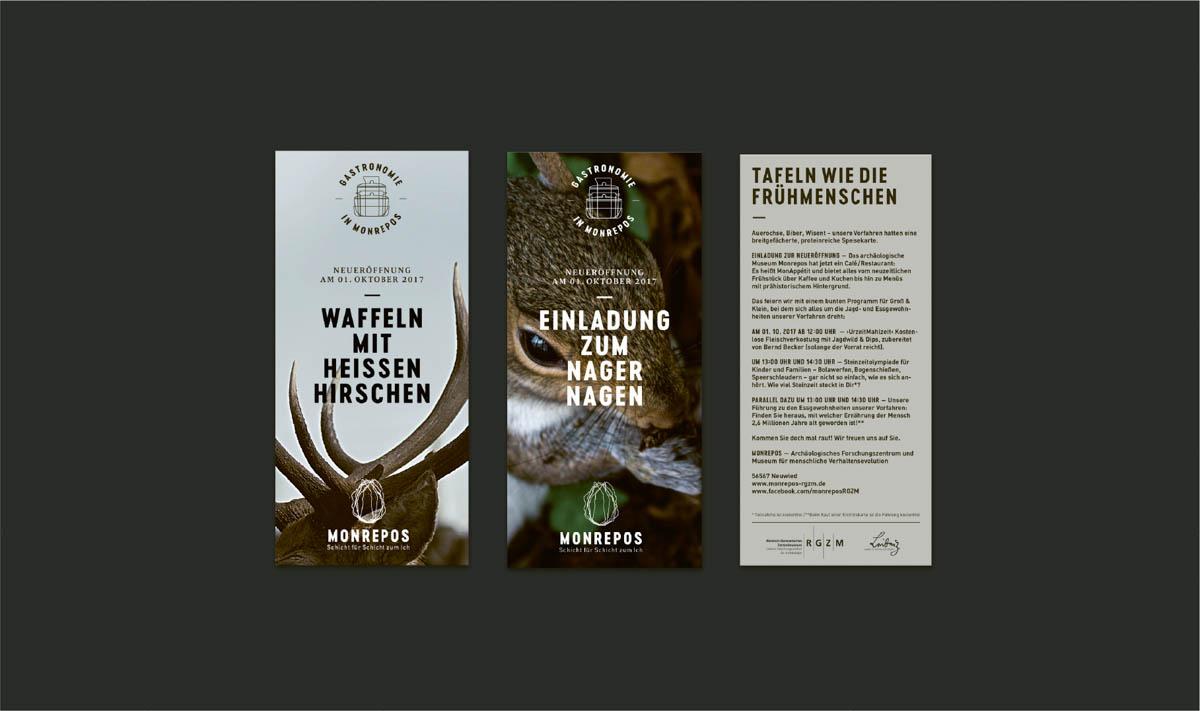 Flyer für das Restaurant im Museum Monrepos Neuwied