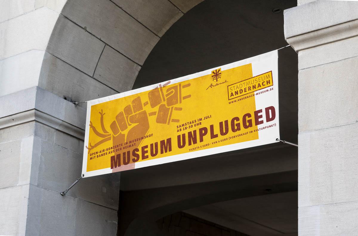 Stadtmuseum Andernach Ausstellungsbanner