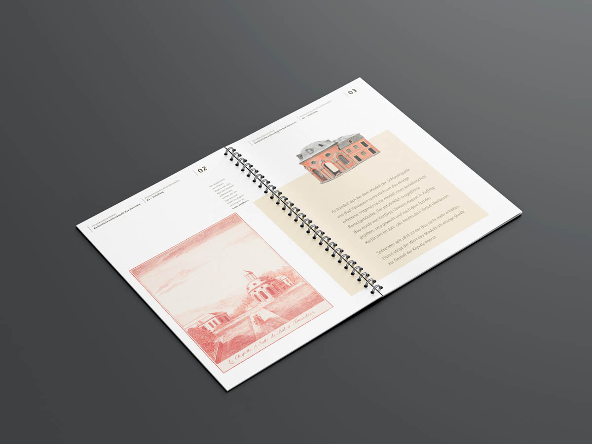 Stadtmuseum Andernach Editorial Design Doppelseite